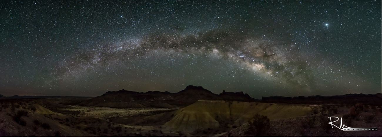The Milky Way rises over Fresno Creek in Big Bend Ranch State Park by Robert Miller